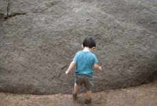 Just had to kick the giant rock