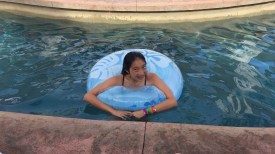 Floating in the lazy river