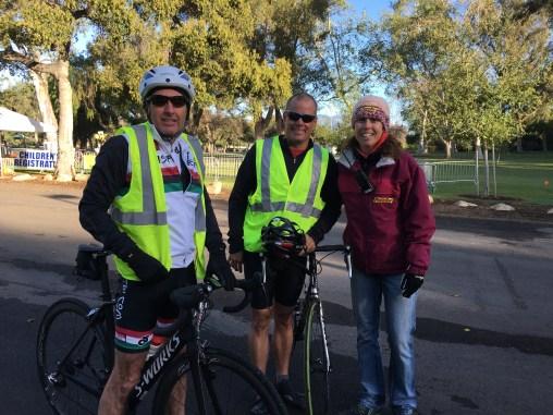 Mike and Charles on bike patrol. Go Nicole!