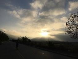 Beautiful sunrise. Belies the heat that lay ahead.