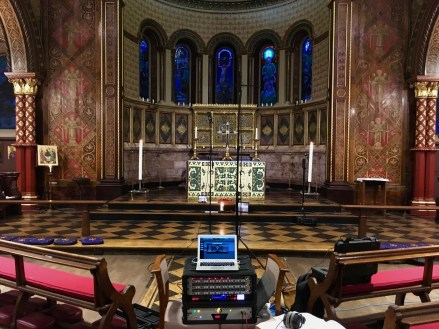 Recording with JoeCo BBR1B multi-track recorder at King's College Chapel, London