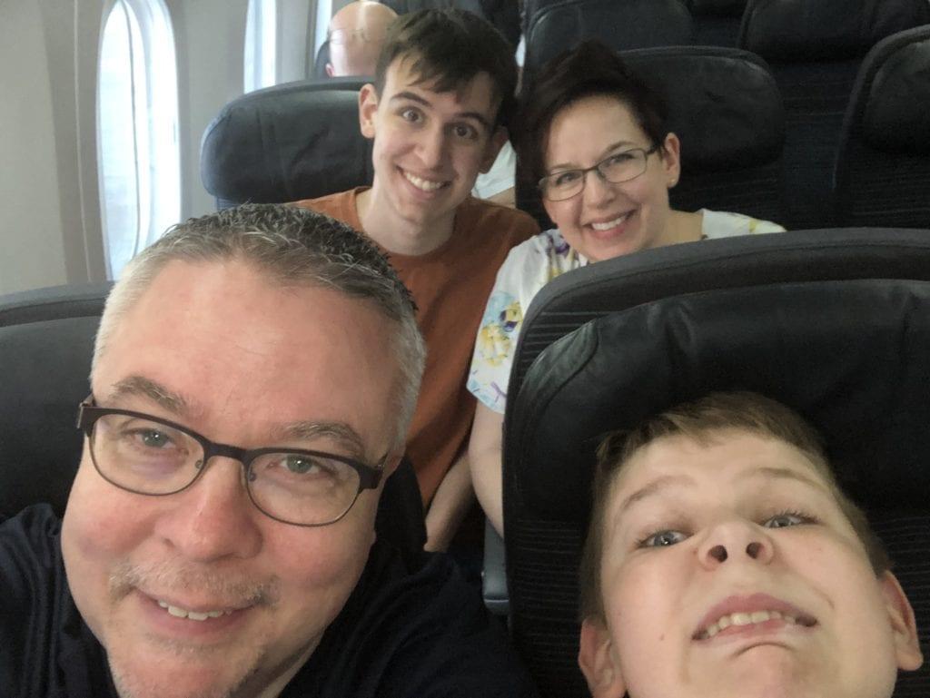 air canada flight to Orlando Florida disney world and universal theme parks