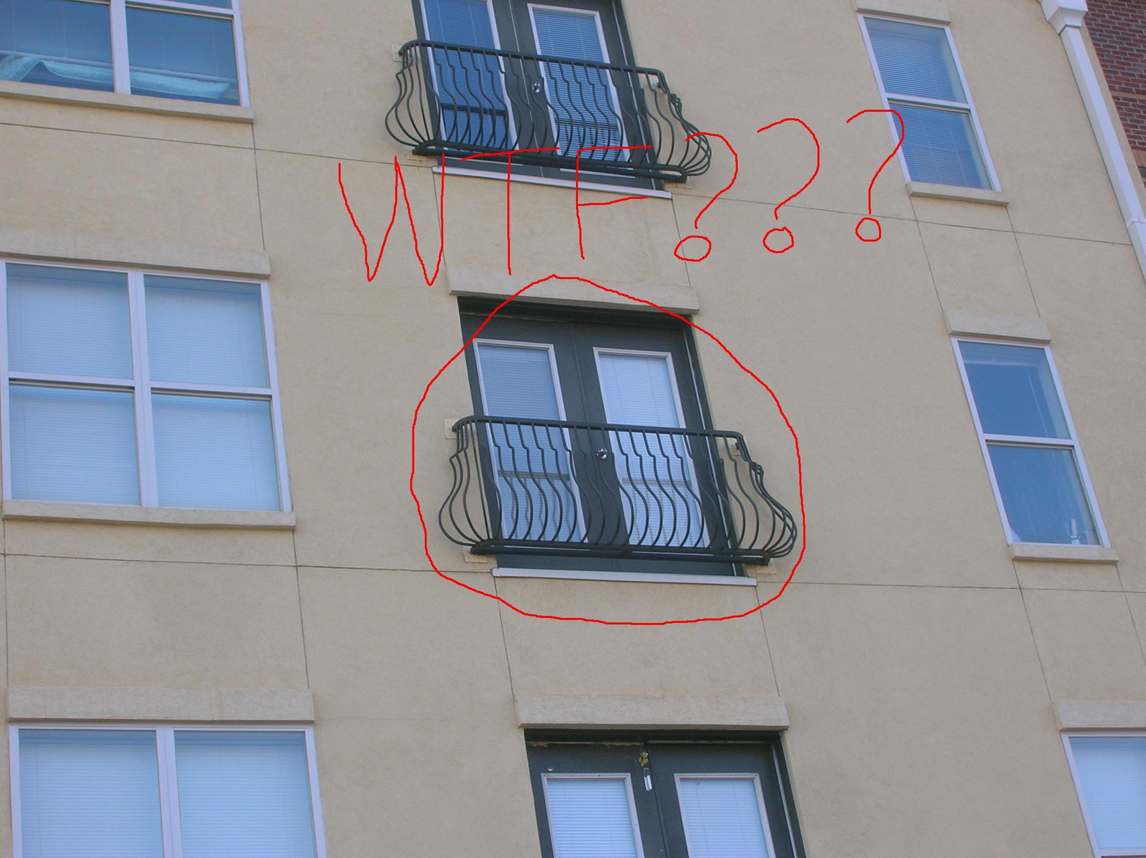 & Balcony Door but No Balcony \u2013 Everyone\u0027s Entitled to Joe\u0027s Opinion