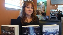 Annie Sturdivant with three of my books