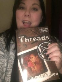 My sister Rebecca Jones and Threads.