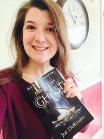 Lauren Boer with her copy of Memories of a Ghost.
