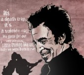 """Bruce Springsteen & The E-Street Band artwork influenced by the song """"Born To Run"""""""