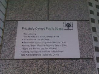 Privately owned public space