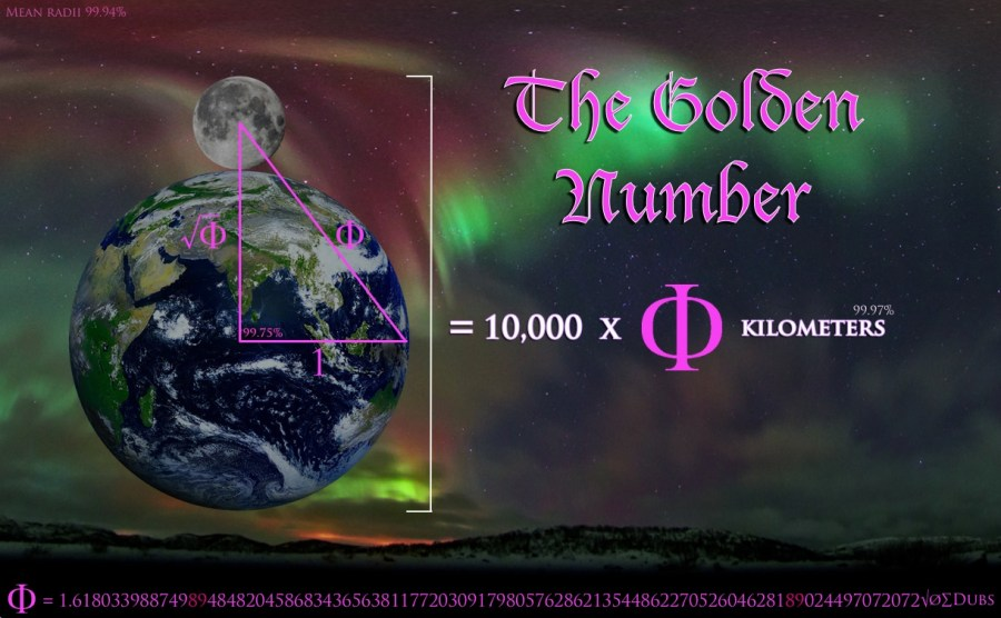 Golden Mean Phi Fibonacci Earth Moon