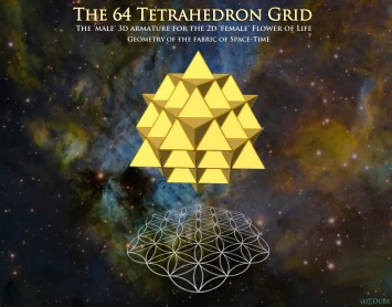 64 Tetrahedron Grid and Flower of Life