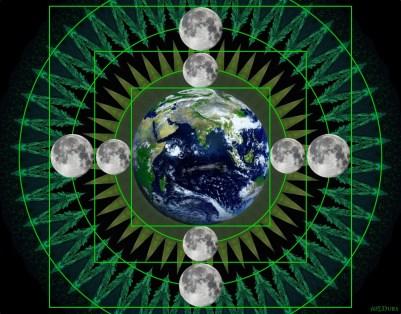 Earth and Moon Art 1
