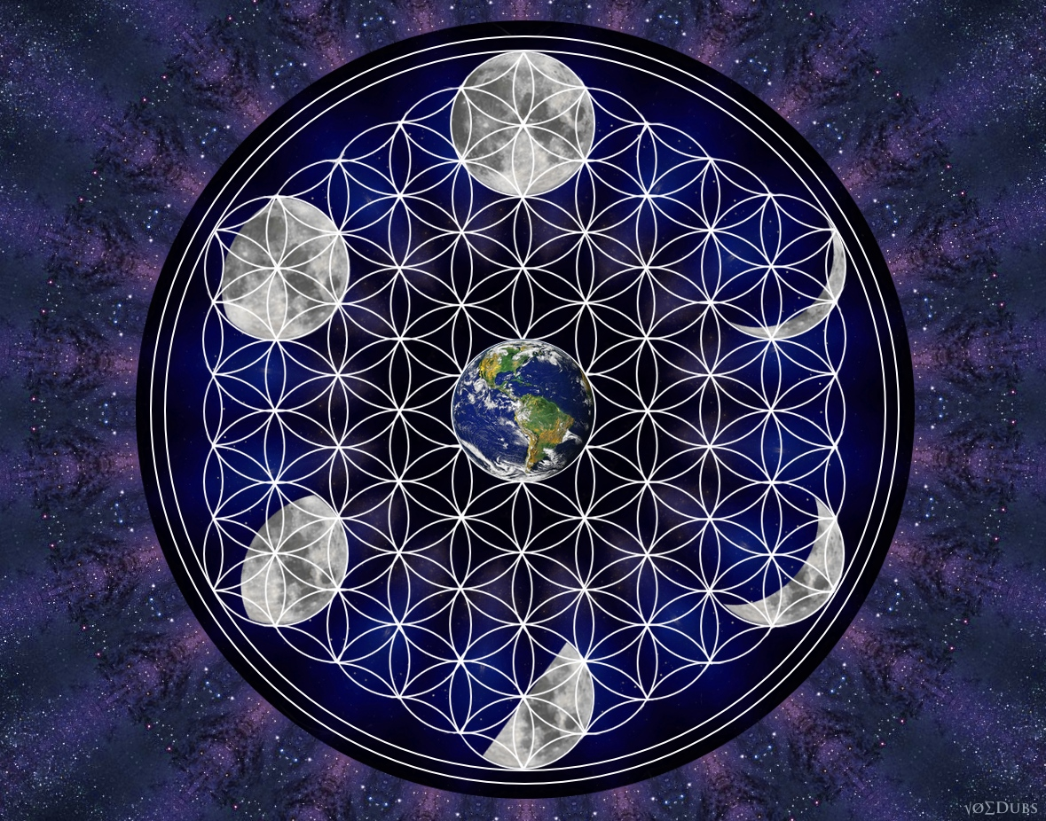 Earth and Moon Flower