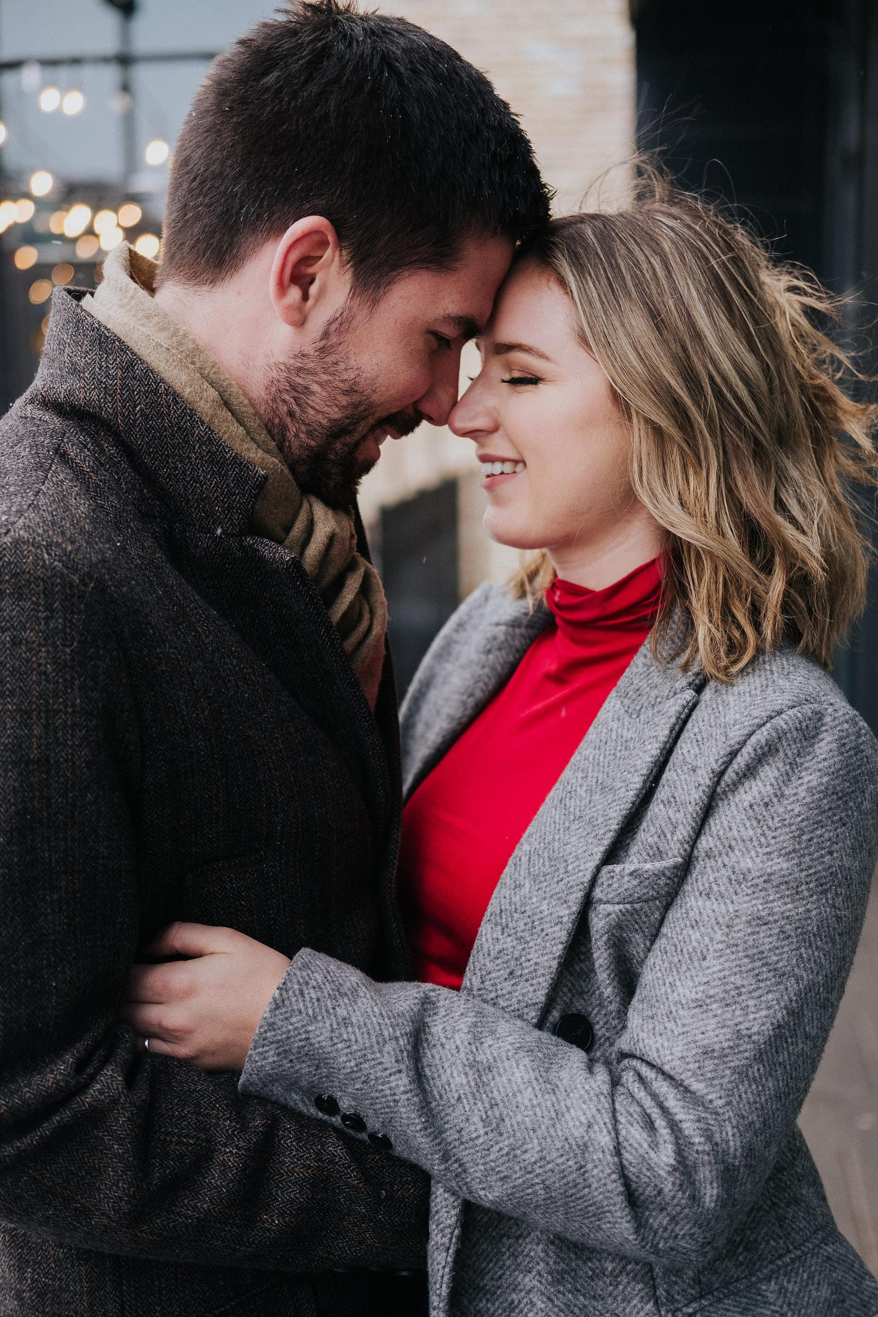 Downtown Kitchener and Goudies lane engagement photos