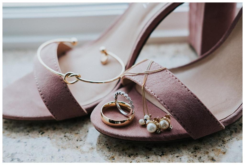 Bridal details and shoes - love the pink colour | Hanover Wedding