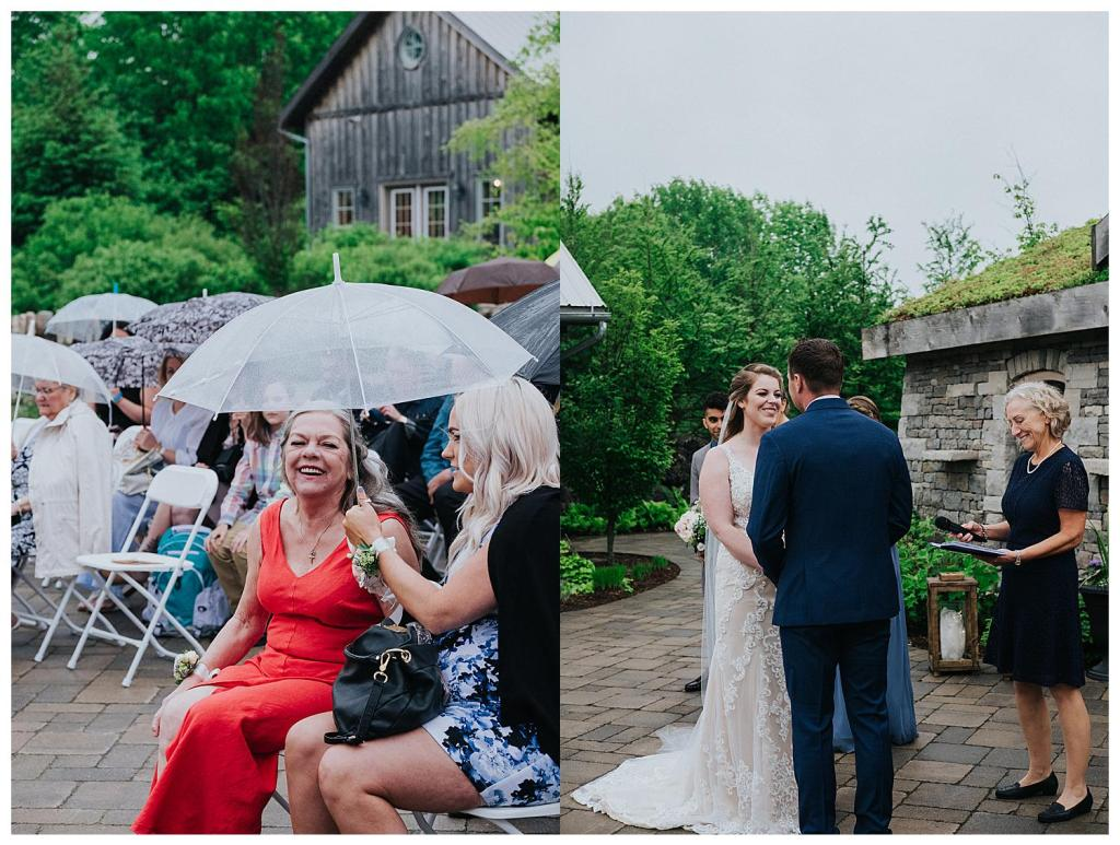 When the bride and groom see each other for the first time | Hanover Wedding Ceremony