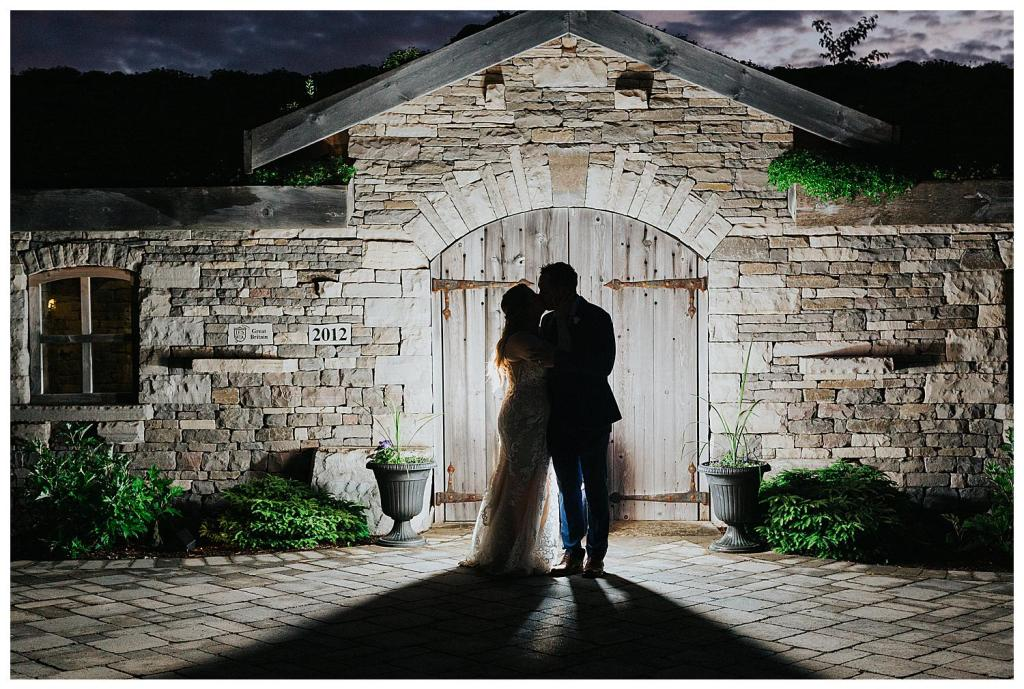 Couples night shots are the best ever especially with a stunning stone cottage as the backdrop | Hanover Wedding