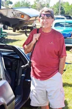 Joe Farace car shows Delorean