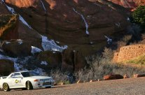 Nissan Skyline on the Rocks