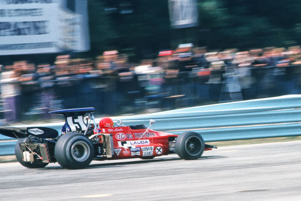 Photographing Niki Lauda at Watkins Glen - 1972