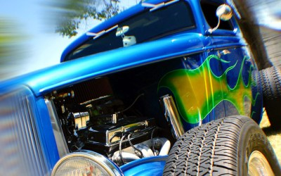 Photographing a Hot Rod with a Fish-Eye Adapter