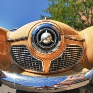 Photographing a Smiling Studebaker with a Fisheye Zoom