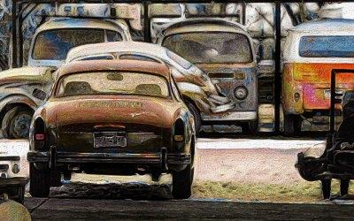Photographing A VW & Beetle Bone Yard