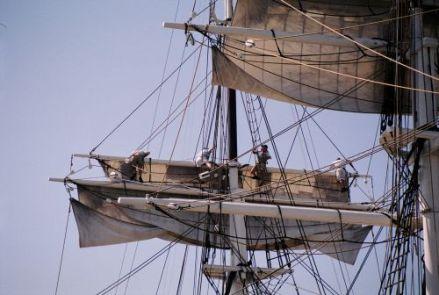 Aloft on the Charles W. Morgan