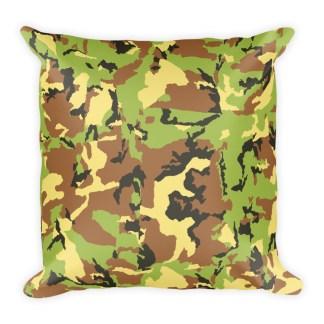 Green Camo Pattern Pillow