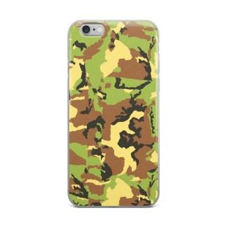 green camo pattern iphone case