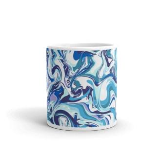 marble blue mug