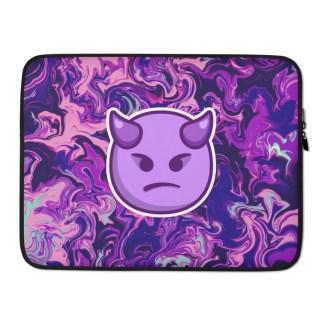 Devil Emoji Laptop Sleeve