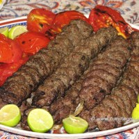 Kabab Koobideh (Persian ground meat kabab)