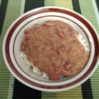 George's Shameless Ripoff of Teasphere's Copycat Popeye's Chicken Red Beans and Rice Recipe