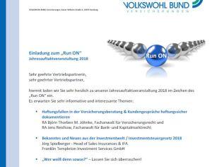 Rechtsanwalt Björn Thorben M. Jöhnke und Rechtsanwalt Jens Reichow referieren bei der Volkswohl Bund Versicherung zum Thema Maklerhaftung
