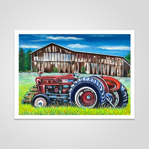 Field Tractor by Johnny Mapp - Glossy Paper Print