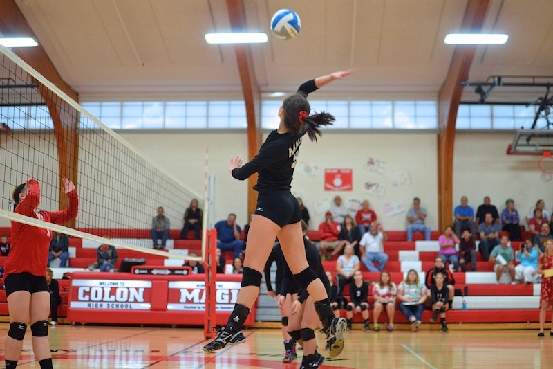 Colon volleyball earns SCAA home sweep vs. Tekonsha