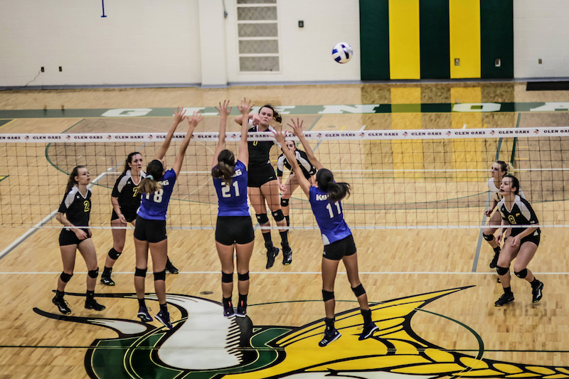 Video: Glen Oaks volleyball tops Kellogg in five sets