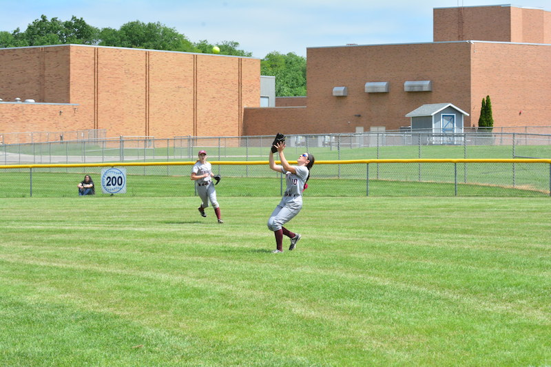 Schoolcraft vs. Parchment district softball 2018.