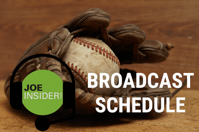 Joe Insider Broadcast Schedule