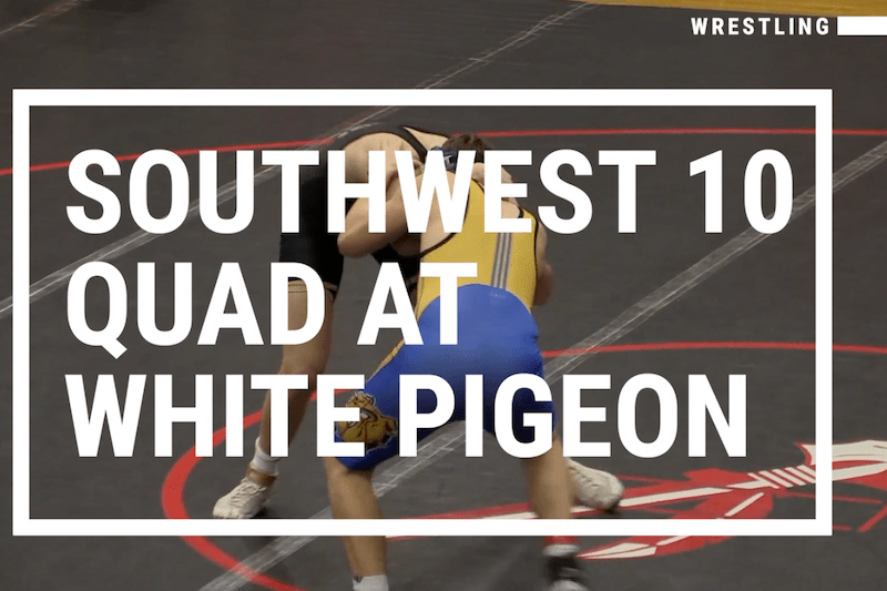 Video: Cassopolis, Centreville, Decatur and White Pigeon wrestling in action at Southwest 10 Quad