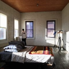 man in bedroom