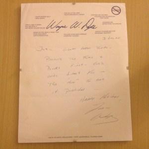 Wayne Dyer letter 120305