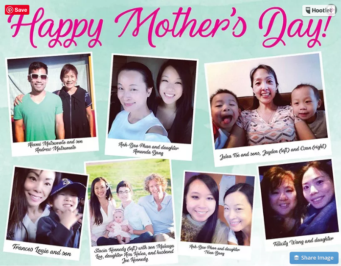 Stacia Kennedy in NW Asian Weekly Mother's Day Article