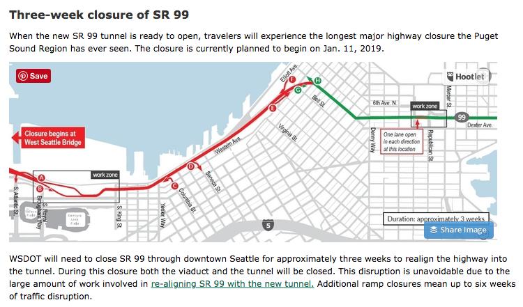 January 2019 Closure of SR 99 in Seattle brings nightmares