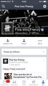 Facebook Mentions - Five Iron Frenzy Profile