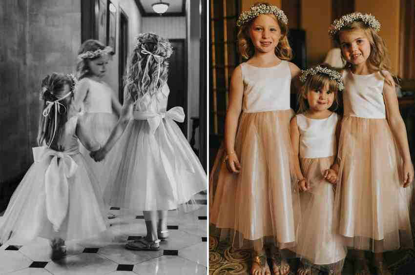 Pink Flower Girl; Chateau Laurier Wedding; Joel Bedford Photography;