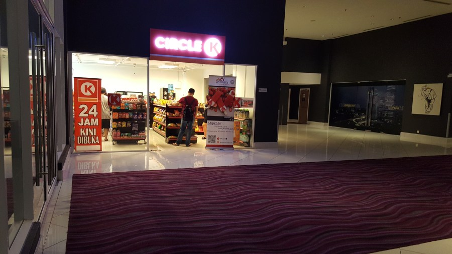 Circle K Convenient Store at the lower ground floor of Pullman KL Bangsar Hotel