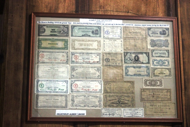 Mickey Mouse Money on display inside the Aldren Tac-An Nacion Family Residence