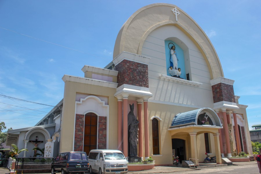 The Immaculate Conception Cathedral, completed in 1960, was originally designed by Filipino architect Leandro Locsin and renovated in 1997. It houses the Philippine's second biggest pipe organ and the biggest in Mindanao.