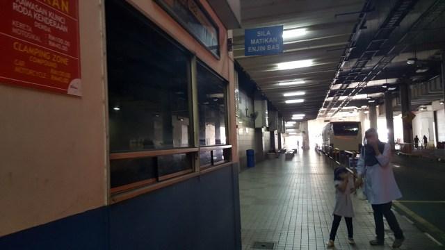 Bus Terminal at the KL Sentral Station, Kuala Lumpur, Malaysia